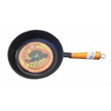 Сковорода гриль чугунная 24 см с рифленым дном