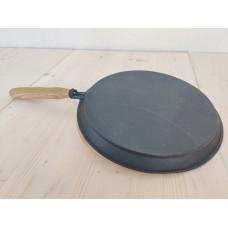 Сковорода блинная 240х15 мм Камская Посуда с ручкой