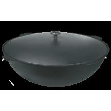 Казан чугунный 18 литров с алюминиевой крышкой