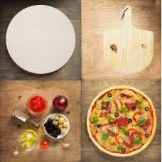 Камень для пиццы, пекарский камень + лопатка для пиццы