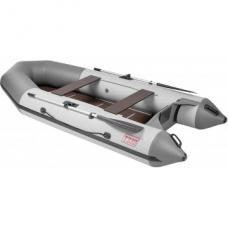 Лодка Капитан Т330 (киль+пол) бело-серый