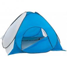 Палатка зимняя автомат 1,8*1,8 бело-голубая дно на молнии