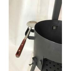 Печь под казан 2 мм 47 см с дверцей, трубой и регулятором тяги