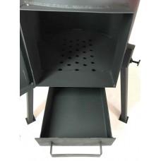 Печь под казан 3 мм 33 см л с зольником, дверцей, трубой и регулятором тяги