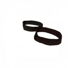 Утяжка из эластичной ленты шир. 15 мм цвет черный для фиксации ковриков в свёрнутом виде
