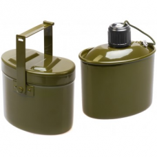 Набор посуды армейский котелок+фляжка