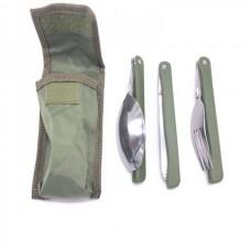 Складной набор 3 в 1 (вилка, ложка, нож)