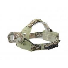 Фонарь налобный Камуфляж светодиодный аккумуляторный с zoom