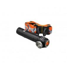 Налобный аккумуляторный фонарь 2 в 1 с зумом