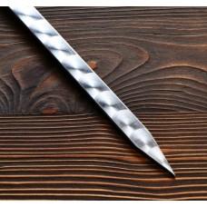 Шампур узбекский для люля кебаб широкий 40см/2см с деревянной ручкой