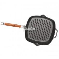 Чугунная сковорода-гриль 280х280х45 мм Биол