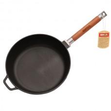 Сковорода чугунная литая глубокая со съемной ручкой 240х60 мм БИОЛ