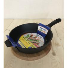 Чугунная сковорода  сковорода 220х60 с бакелитовой ручкой