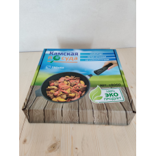 Сковорода сотейник литая чугунная 280*60 со съемной бакелитовой ручкой