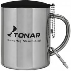 Термокружка 350ML с пластиковой крышкой+карабин T.TK-038-350 Tonar