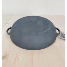 Чугунная глубокая жаровня сковорода 280х60 мм с литыми ручками